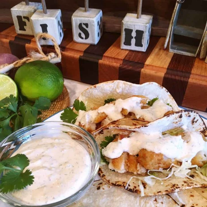 Easy Fish Tacos with Amazing Taco Sauce