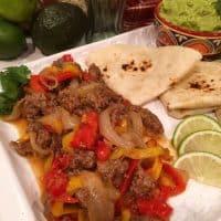 Instant Pot Beef Fajitas
