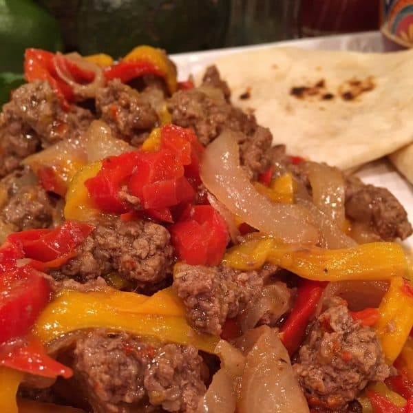 Beef Fajitas on serving platter