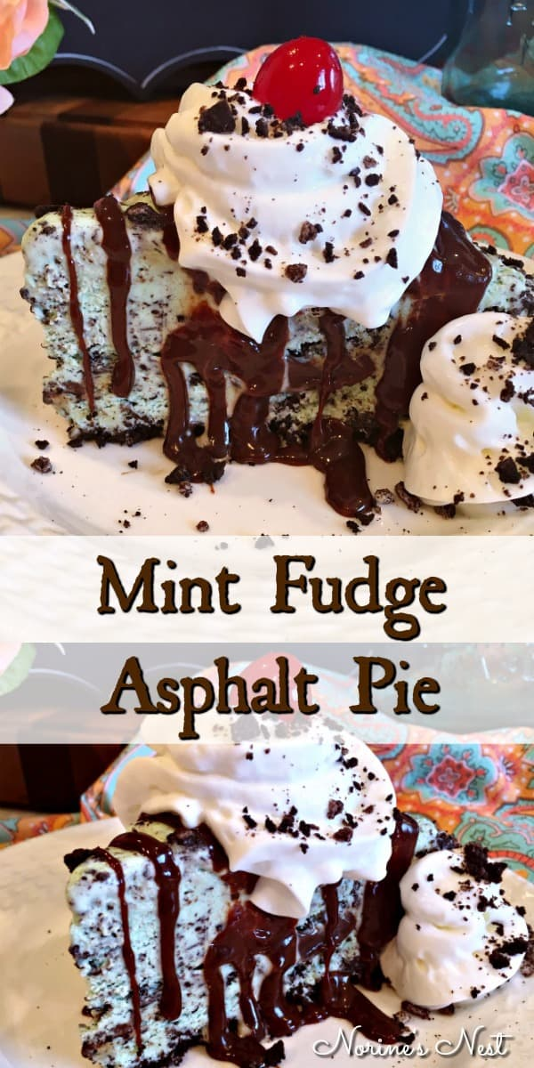Asphalt Pie is a frozen mint ice cream treat with crushed Oreo cookies, caramel sauce, hot fudge, and mint ice cream. If you love Wingers, you'll love this copy cat of their famous Asphalt Pie.