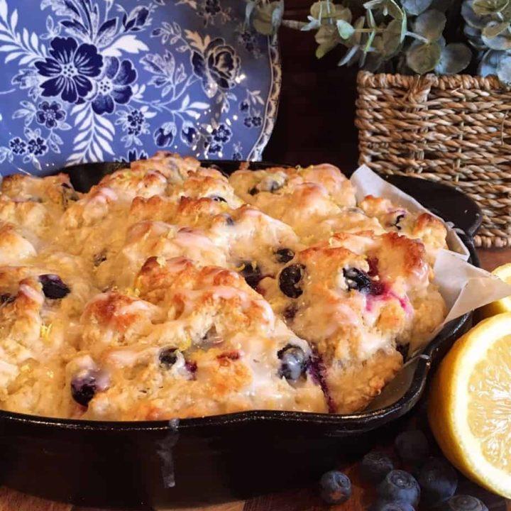 Blueberry Lemon Soda Bread Muffins