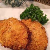 Oven Fried Butter Crumb Pork Chops