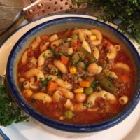 Hamburger Vegetable Pasta Soup