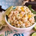 Bowl full of Mexican Seafood Pasta Salad