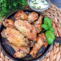 Air Fryer Garlic Parmesan Wings