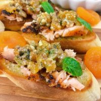 Grilled Salmon With Apricot Bruschetta Recipe