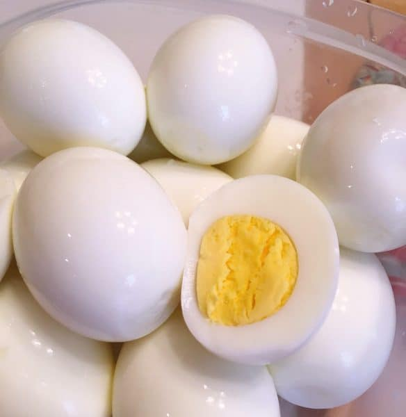 Hard boiled eggs for cobb salad made in the instant pot