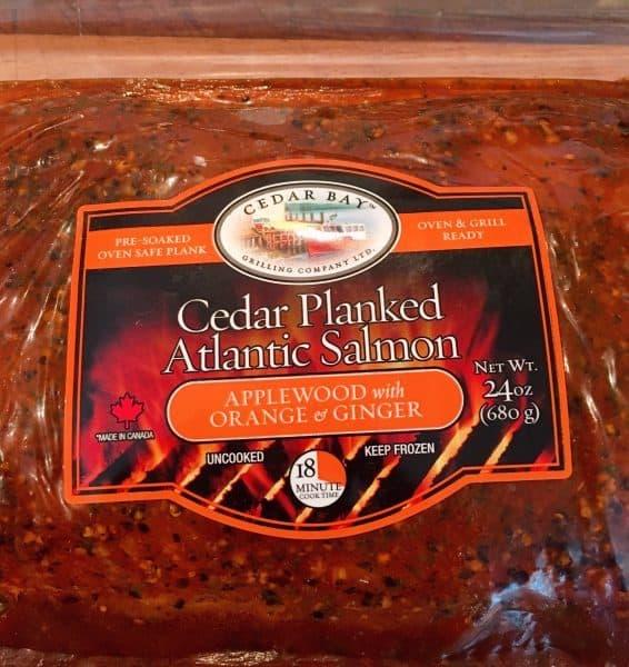 Cedar Bay Salmon in packaging