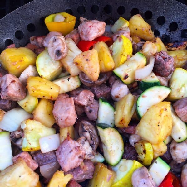 Grilled Vegetables and Meats for Unkabobs