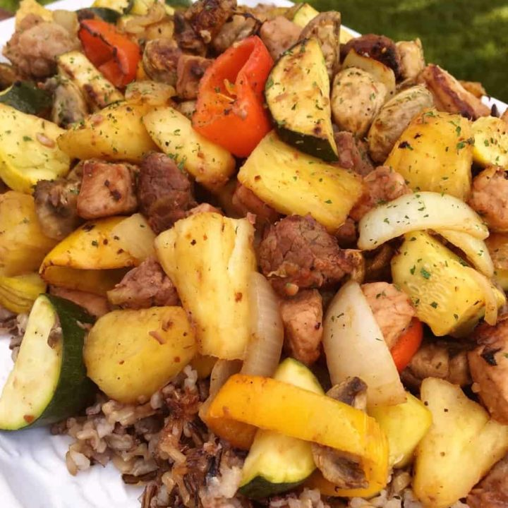 Wild Rice with grilled vegetables