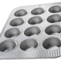 USA Pan (1200MF) Bakeware Cupcake and Muffin Pan, 12 Well, Nonstick & Quick Release Coating, Made in the USA from Aluminized Steel