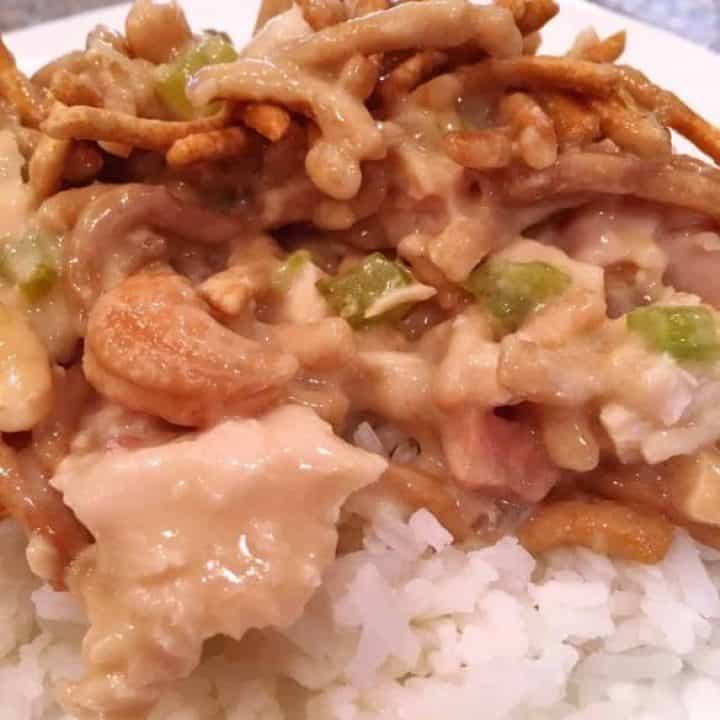 Cashew Chicken Casserole over rice