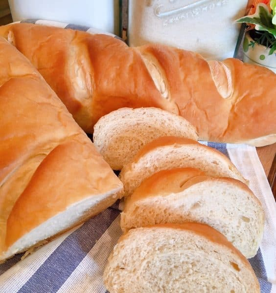 Homemade Soft French Bread sliced and ready to eat