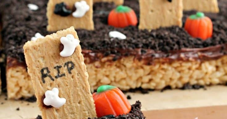 Haunted Graveyard Rice Krispies Treats