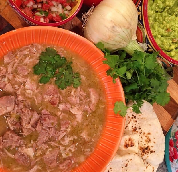 Instant Pot Pork Chili Verde burrito bar