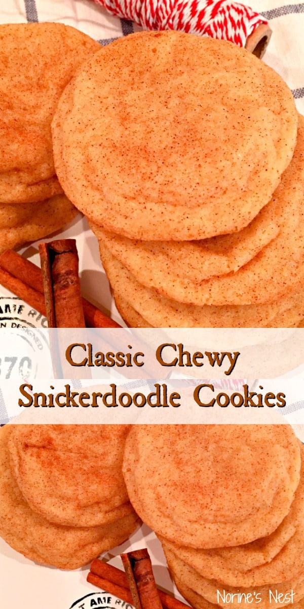 The Best Soft, Easy, and Chewy Snickerdoodle cookie made without Cream of Tartar!