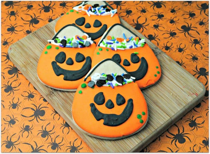Halloween Pumpkin Candy Bag Cookies