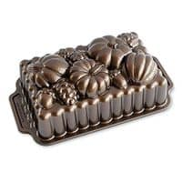 Nordic Ware 91648 Harvest Bounty Loaf Pan, One Size, Bronze