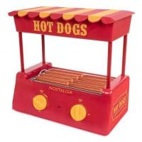 Nostalgia HDR8RY Roller Warmer 8 Hot Dog and 6 Bun Capacity
