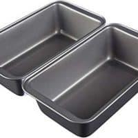 AmazonBasics Nonstick Carbon Steel Baking Bread Pan, 9.5 x 5 Inch, Set of 2