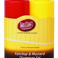 TableCraft 112KM Nostalgia 2-Piece Ketchup and Mustard Dispenser Set, 12-Ounce