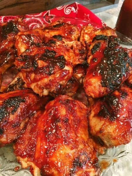 Lip smacking, finger licking AMAZING Cherry Dr. Pepper BBQ Chicken. A summer treat that will have them coming back for more!