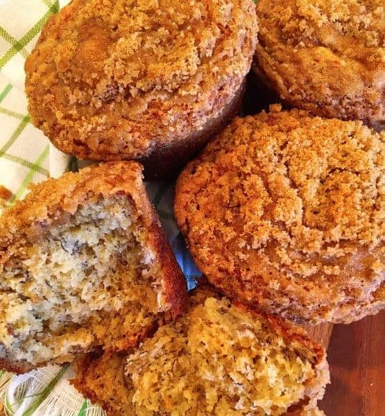 The crumb topping is what makes these banana muffins go from ordinary to extraordinary! They are absolutely spectacular in every sense of the word.