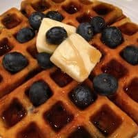 Blueberry Banana Belgian Waffles