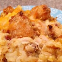 Chicken Ranch Tater Tot Casserole
