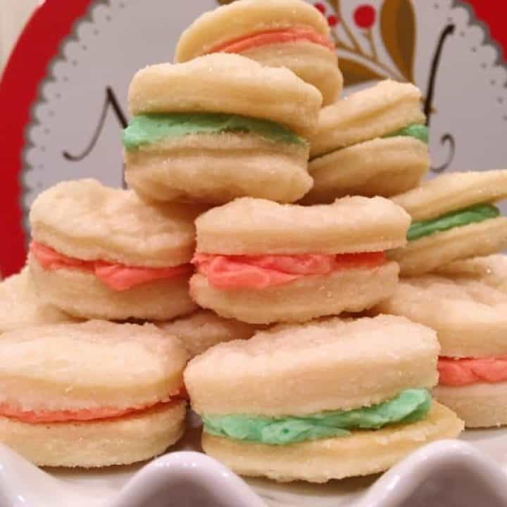 Stake of Christmas Sandwich Creme Cookies