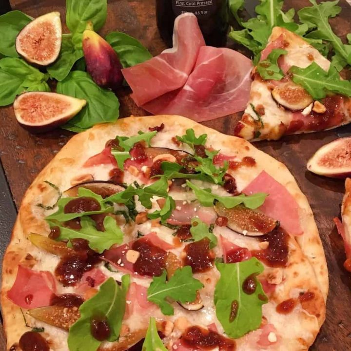 Fig Prosciutto Hazelnut Pizza With Balsamic Glaze
