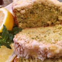 Lemon Zucchini Bread With Crumb Topping