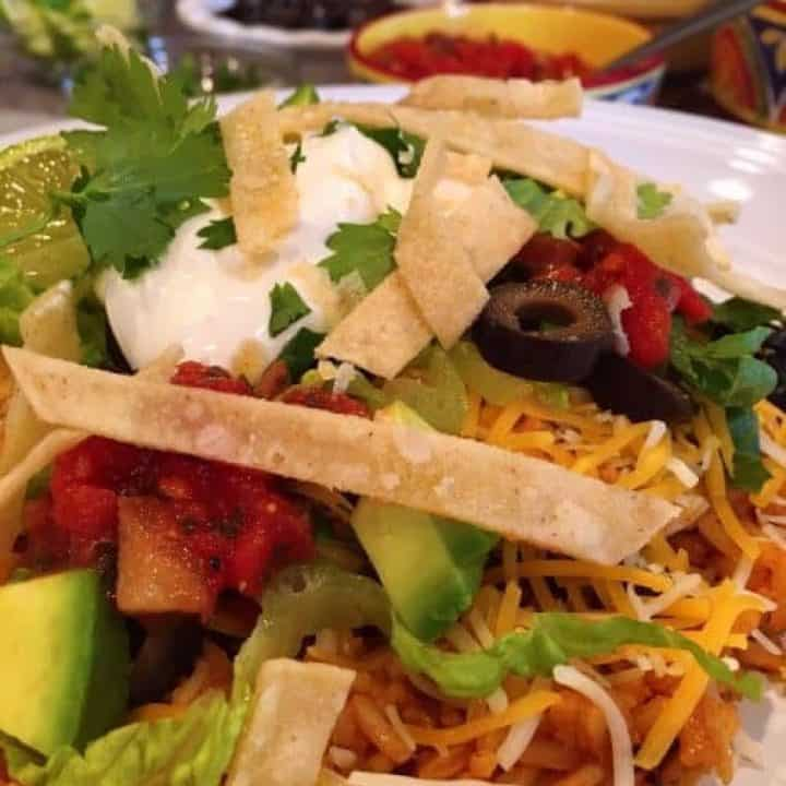 Plate with a Mexican Haystack