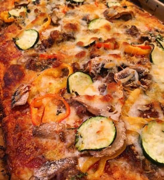 A Quick and Easy Delicious Homemade Pizza thanks to Wewalka Classic Pizza Dough and some fresh ingredients from your garden!