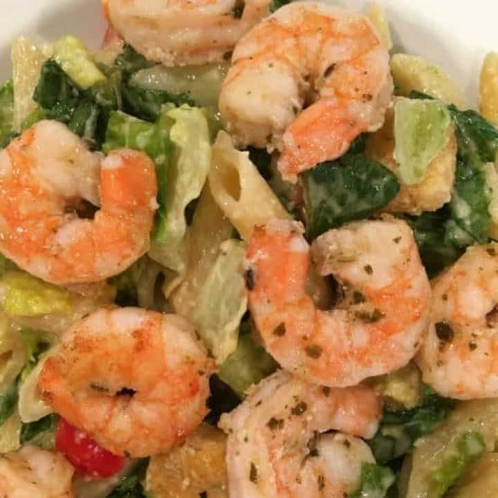 Shrimp Pasta Caesar Salad