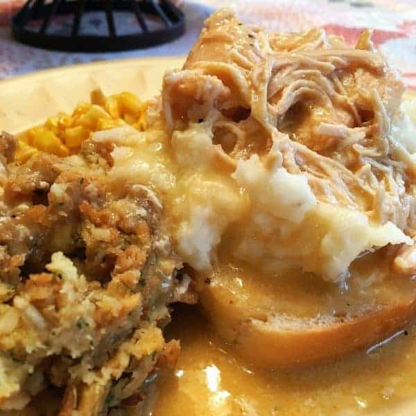 A wonderful Chicken and Gravy dinner that will remind you of Thanksgiving dinner when served over mashed potatoes and served with a side of instant stuffing.