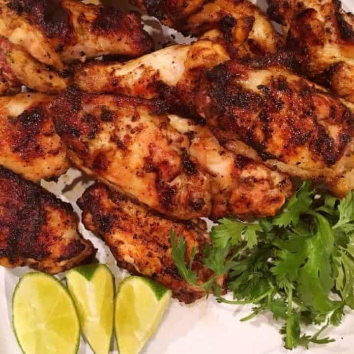 Grilled Citrus Spicy Cilantro Wings