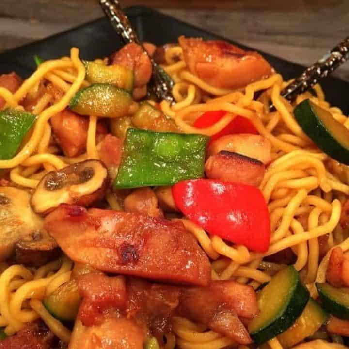 Teriyaki Chicken with Stir Fry Noodles