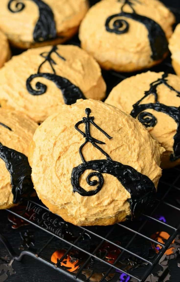 The Nightmare Before Christmas Pumpkin Cookies
