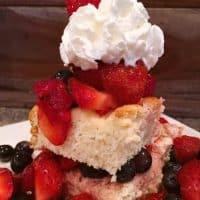 Triple Berry Cream Cheese Shortcake