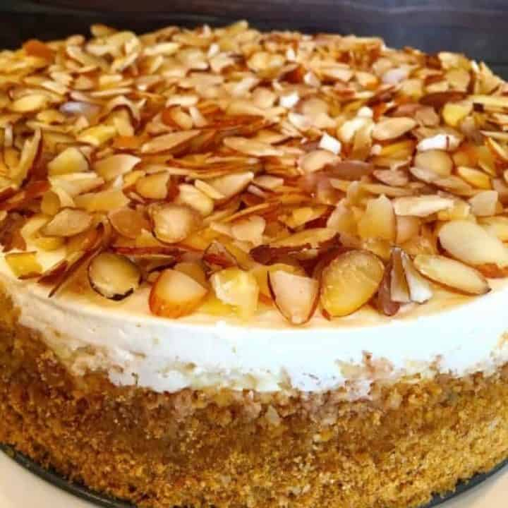 White Chocolate Amaretto Cheesecake
