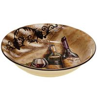 Certified International Italian Pasta Serving Bowl, Tuscan View Collection, 13 by 2.5-Inch