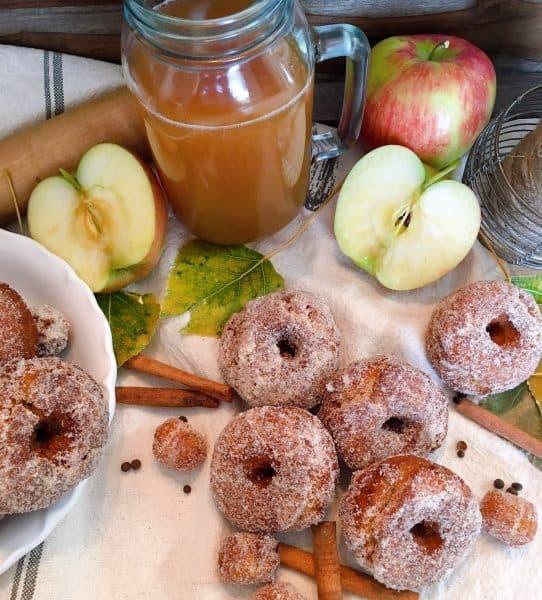 Overhead shot of Apple Cider Donuts