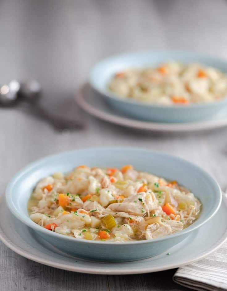 Instant Pot Chicken & Dumplings - Pressure Cooker