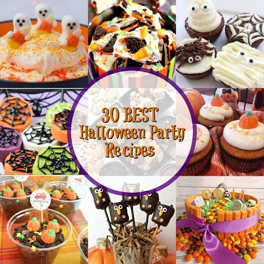 Collage of Halloween Recipes