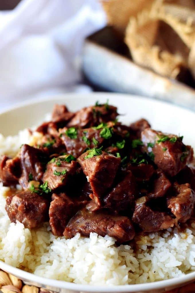 Instant Pot Beef Tips (Pressure Cooker Beef Tips)