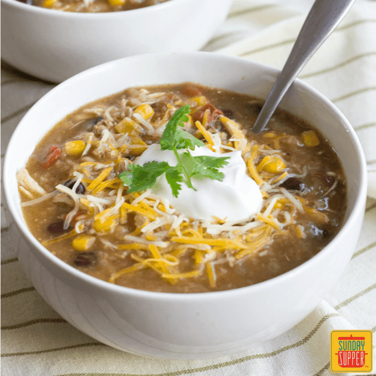 Instant Pot Mexican Chicken and Rice Soup #SundaySupper