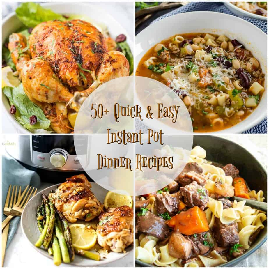 Photo collage of Instant Pot recipes