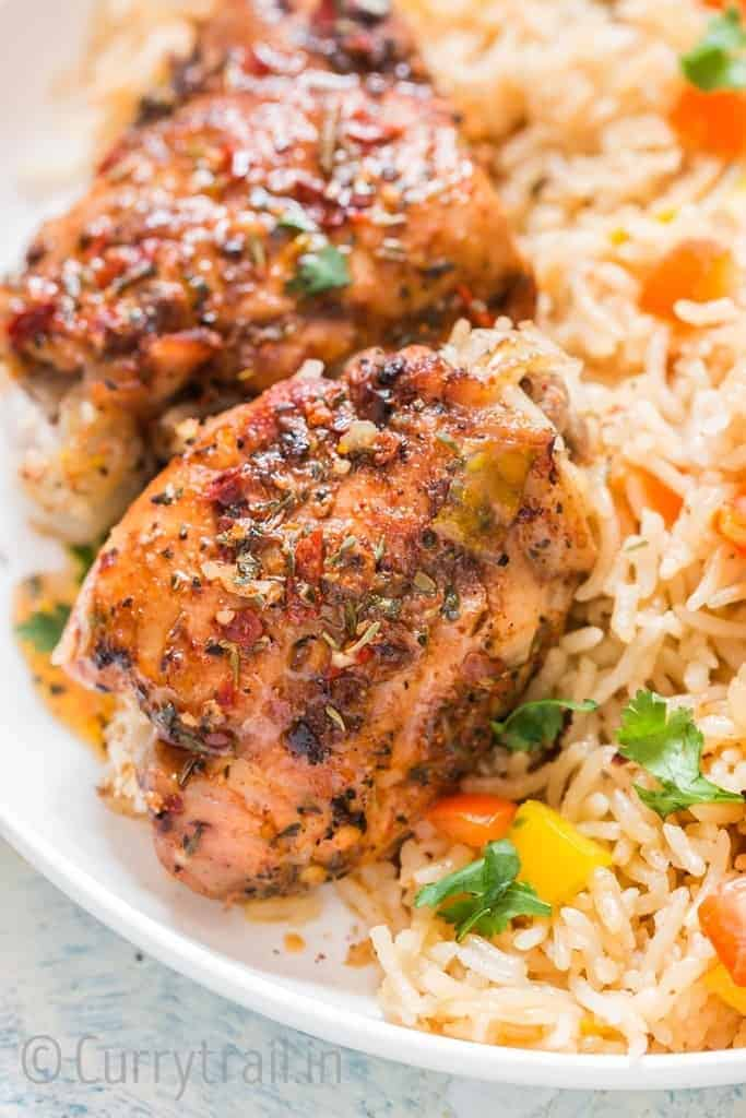 Spicy Cajun Instant Pot Chicken and Rice (Video)