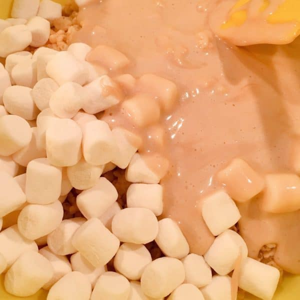 Added melted marshmallows